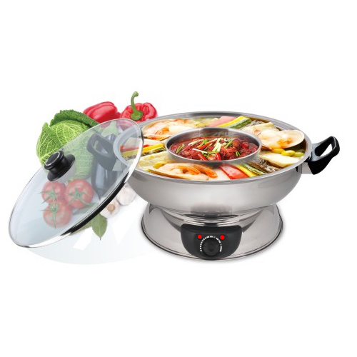 NEC-3016: ELECTRIC STAINLESS STEEL 2 WAY HOT POT / 4.5Q