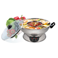 Electric stainless steel 2 way hot pot / 4.5Q
