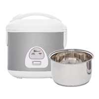 Rice Cooker / 6 Cup / Stainless Steel Inner Pan